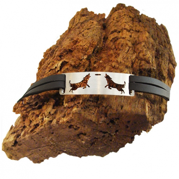 "Armband ""Australien Shepherd with Frisby"""