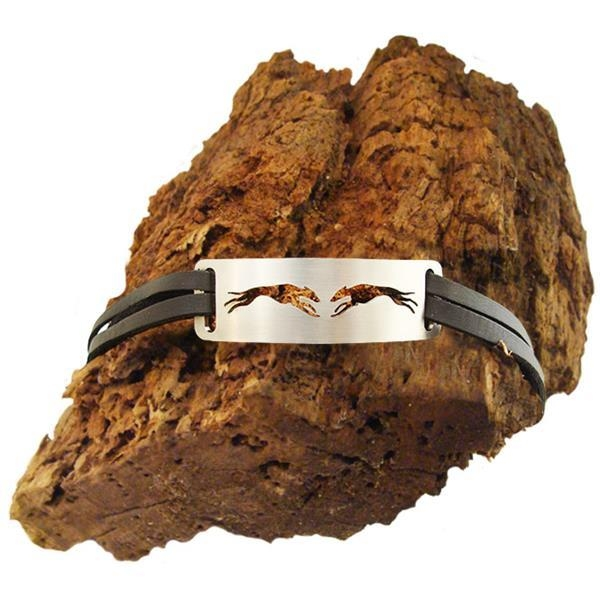 "Armband Hundemotiv ""2 Windhunde"" (Sighthounds)"